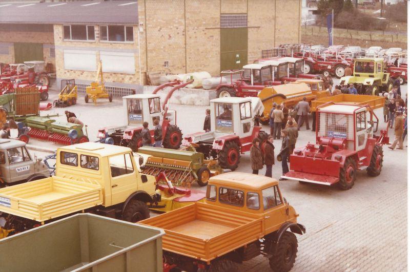 1978 Ausstellung mit UNIMOG und MB-Trac