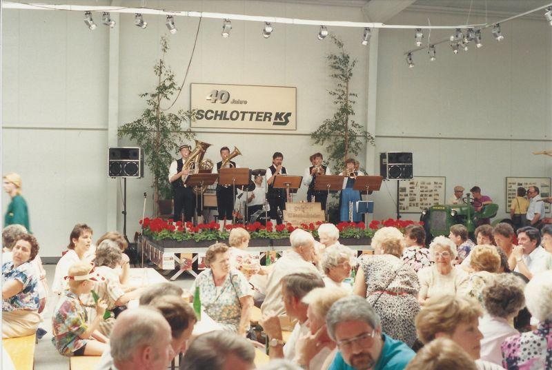 1990 Neueröffnung der neuen Lagerhalle und 40 jähriges Jubiläum