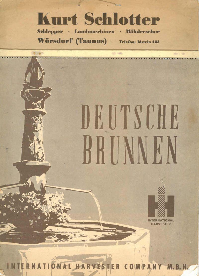 """IHC Kalender """"Deutsche Brunnen"""""""